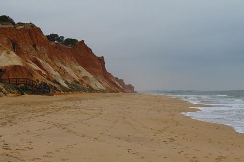 Falesia beach on the Algarve near to Vilamoura