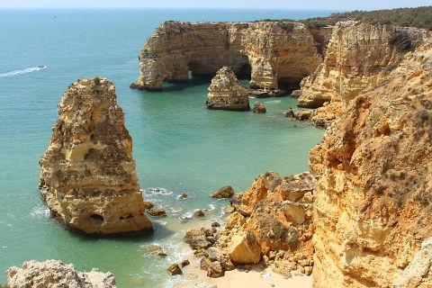 Marinha beach on the Algarve