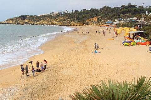 Praia da Oura near Albufeira on the Algarve coast
